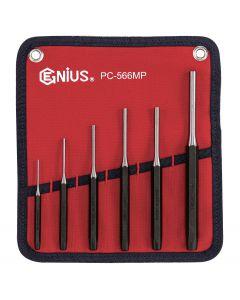 Genius Tools 6 Piece Metric Pin Punch Set - PC-566MP