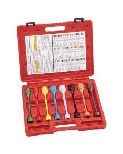 "Genius Tools 8 Piece 1/2"" Dr. Metric & SAE Car Wheel Torque Socket Set - TO-408S"