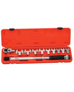 11PC Torque Handle(14x18) with Open End Heads, 40 ~ 210 Nm