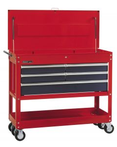 Genius Tools Roll Cart with 5 Drawers, 1240 x 517 x 888mm - TS-768